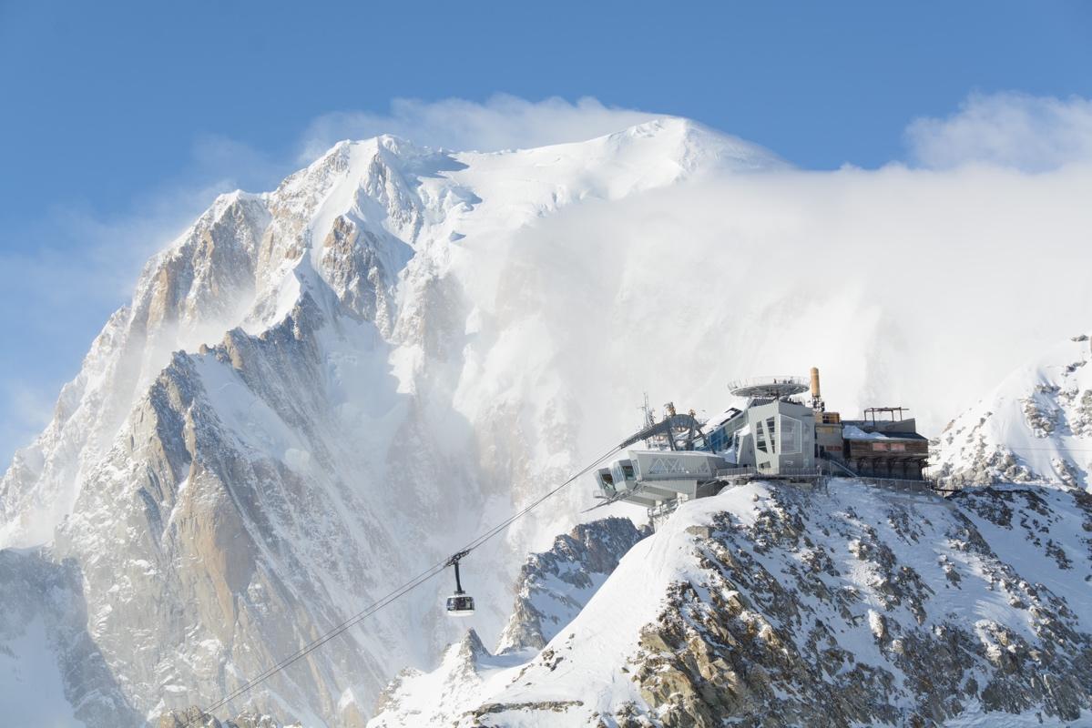 Mont Blanc Punta Helbronner Seilbahn Courmayeur Ao