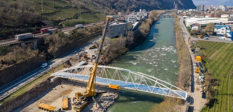"Ponte pedociclabile ""Kampill – Mila"" – Bolzano (BZ)"