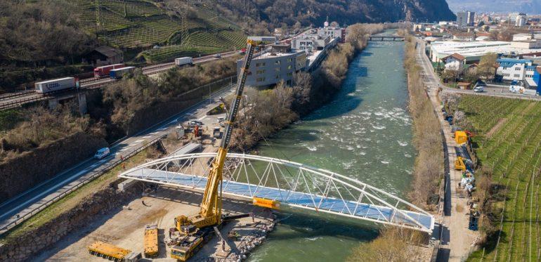 "Radweg- und Fußgängerbrücke ""Kampill – Mila"" – Bozen (BZ)"